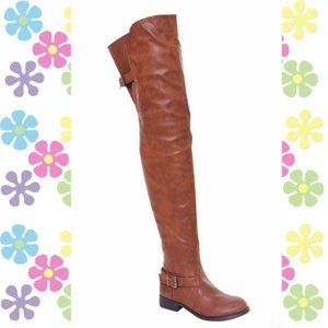 Women Wide Calf Thigh High Riding Boots